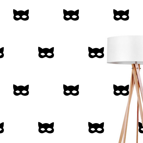 Cat mask, Wall Decal