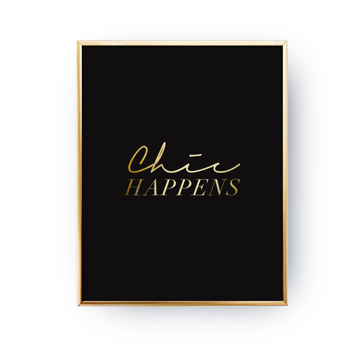 Chic happens, Poster