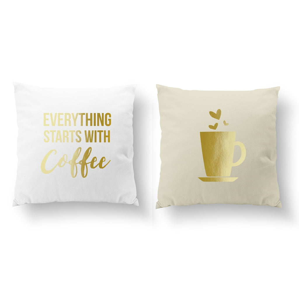 Everything Starts With Coffee, Pillow