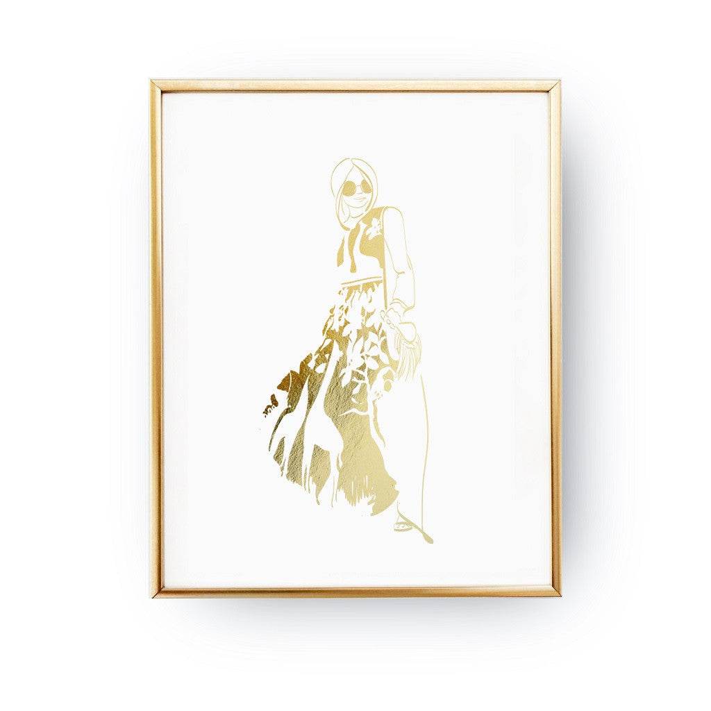 Giraffe dress, Poster