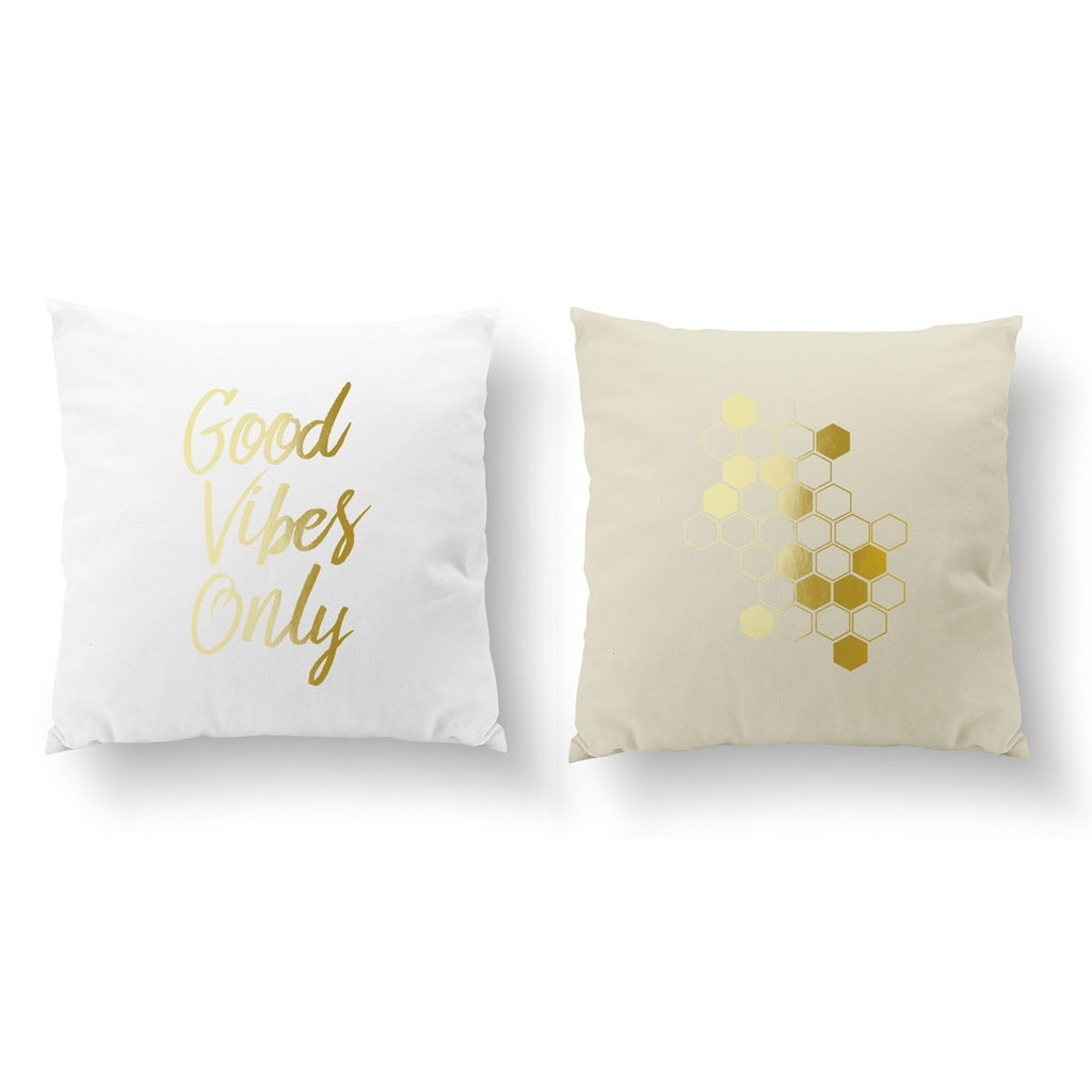 Good Vibes Only, Honeycomb, Pillow