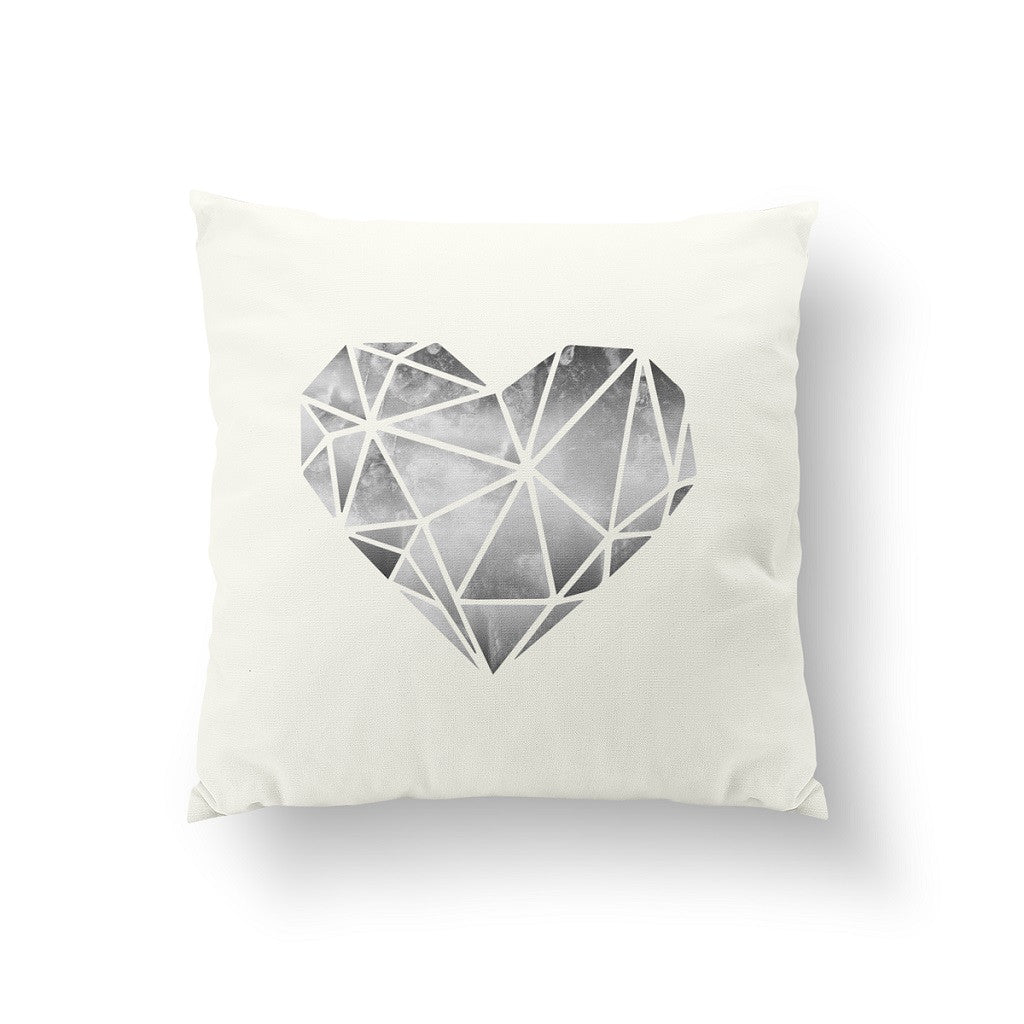 Heart geometric, Pillow