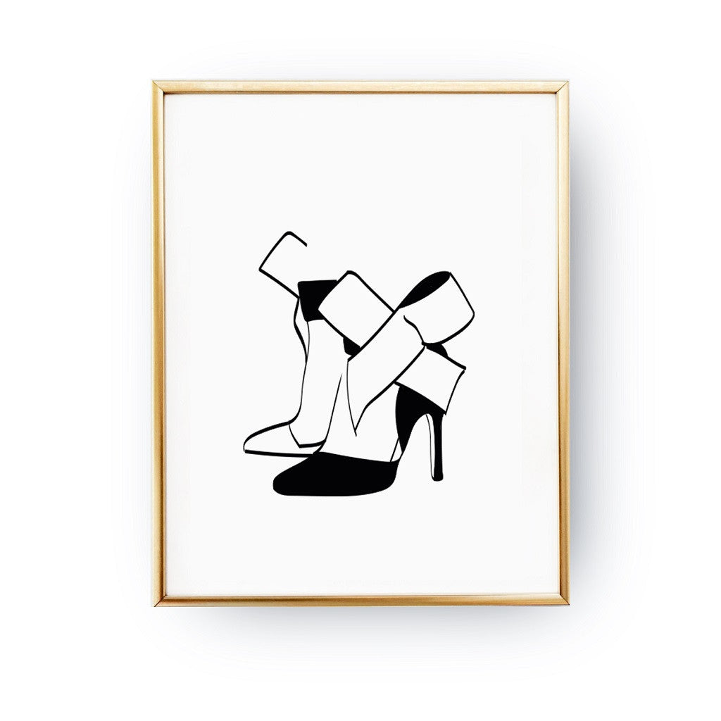 Heels bow, Poster