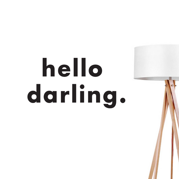 Hello Darling, Wall Decal