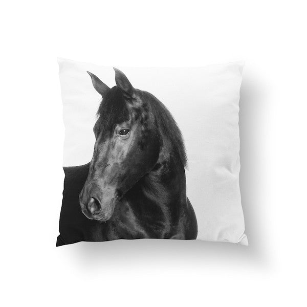 Horse Black, Pillow