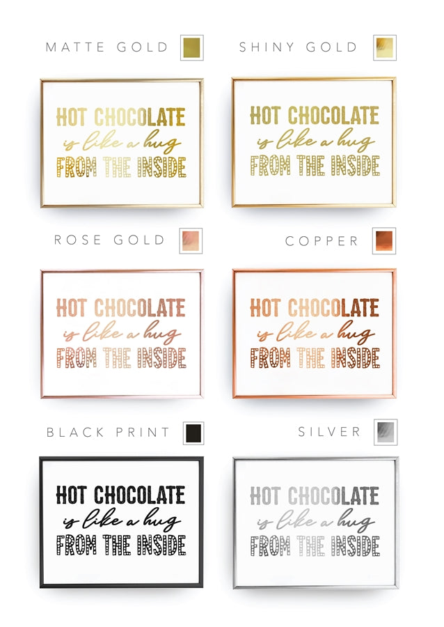 Hot Chocolate Is Like A Hug, Poster
