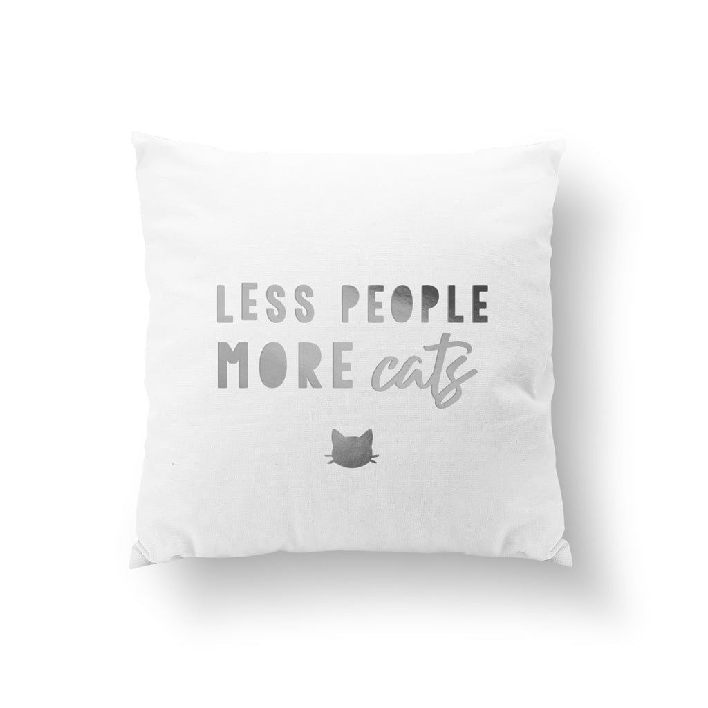 Less People More Cats, Pillow