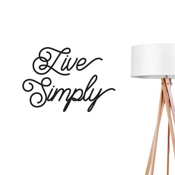 Live Simply, Wall Decal