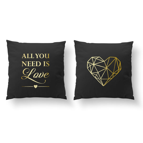 All You Need Is Love, Geometric Heart, Pillow