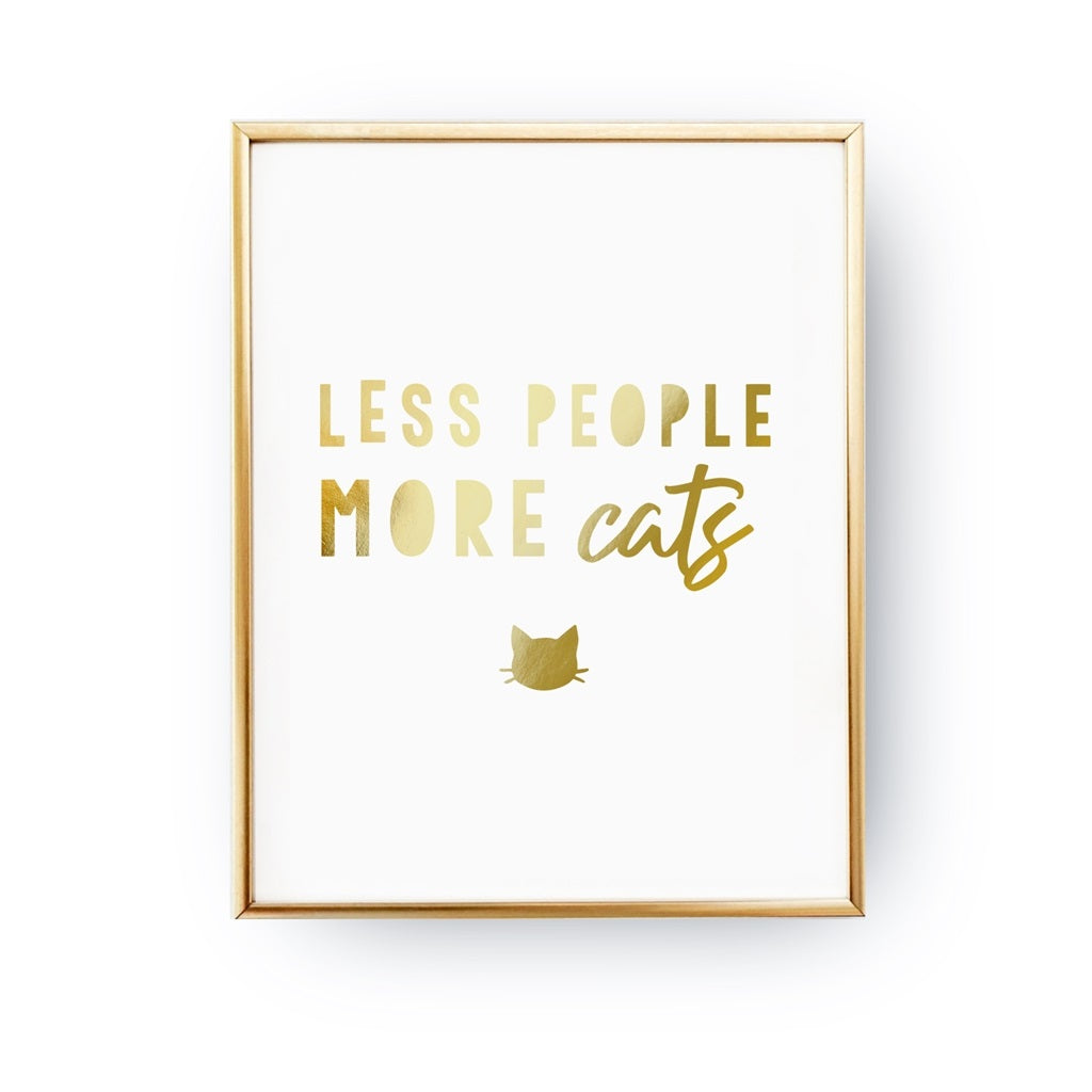 Less People More Cats, Poster