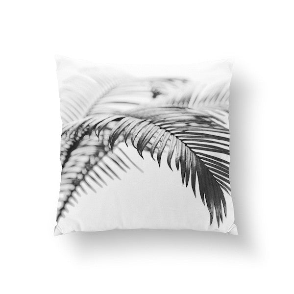 Palm Leaves Black, Pillow