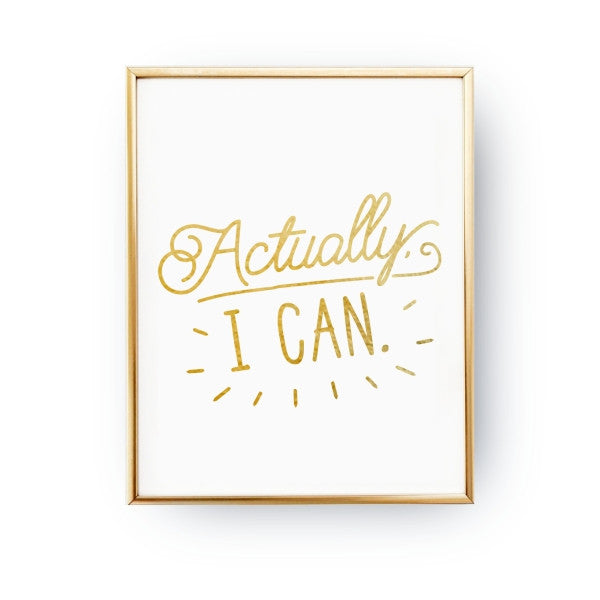 Actually I Can, Poster