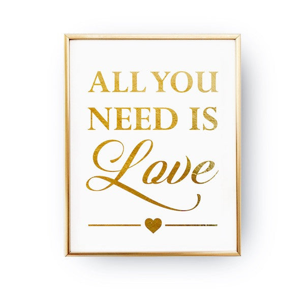 All you need is love, Poster