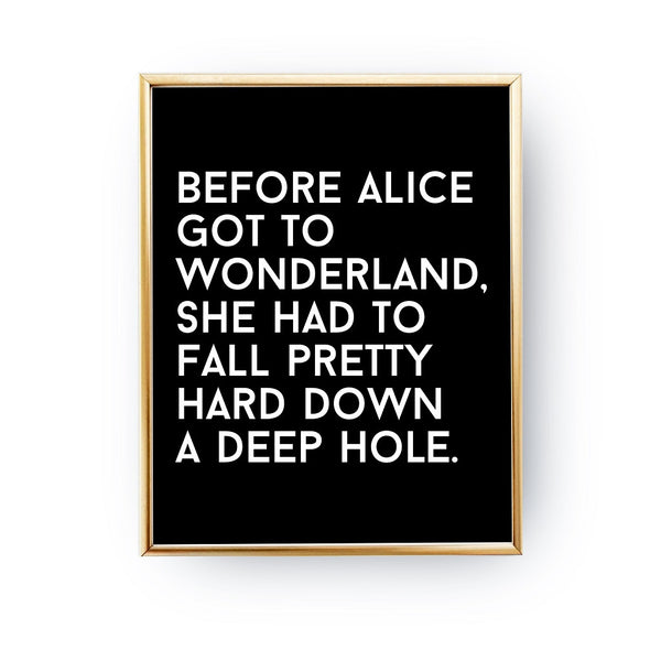 Before Alice got to Wonderland, Poster