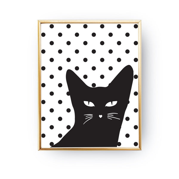 Black cat dots, Poster