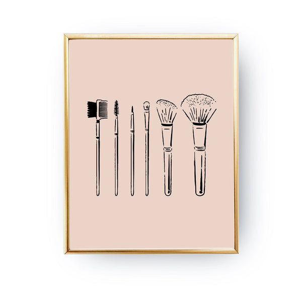 Brushes Beige, Poster
