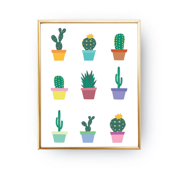 Cactus collection, Poster
