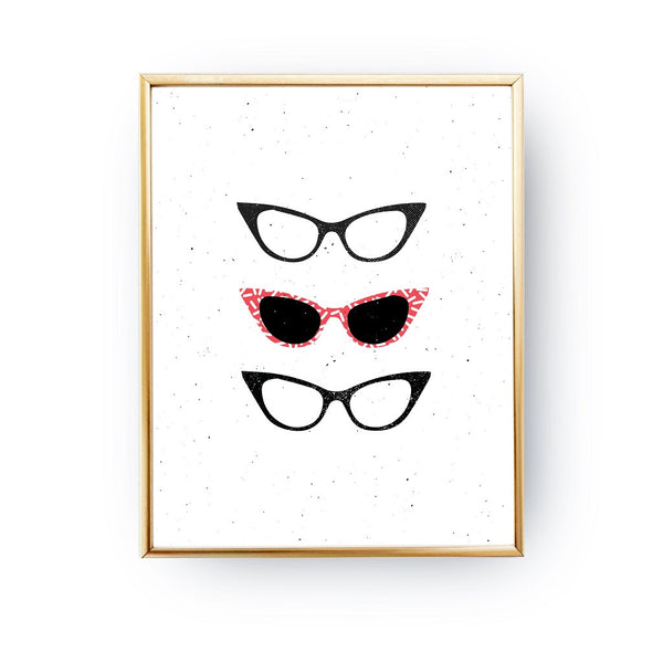 Cat glasses, Poster