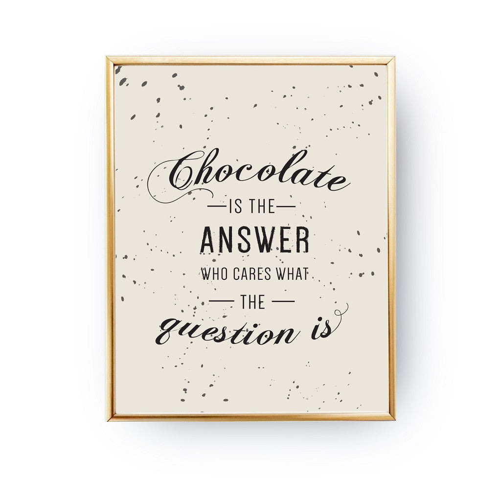 Chocolate is the answer, Poster