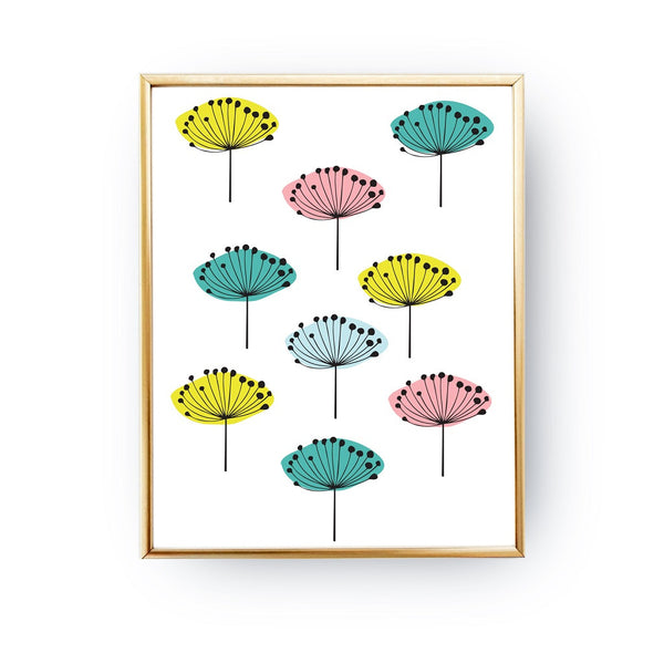 Colorful dandelions, Poster