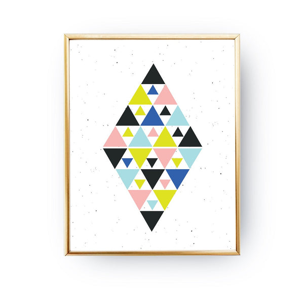 Colorful triangles, Poster