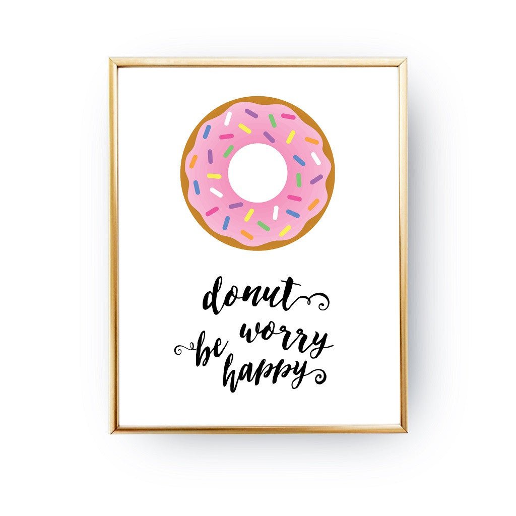 Donut worry be happy, Poster