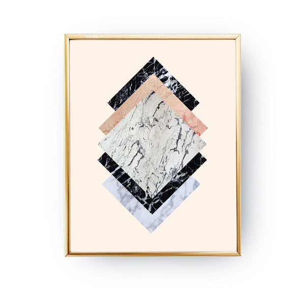 Geometric abstract Marble, Poster
