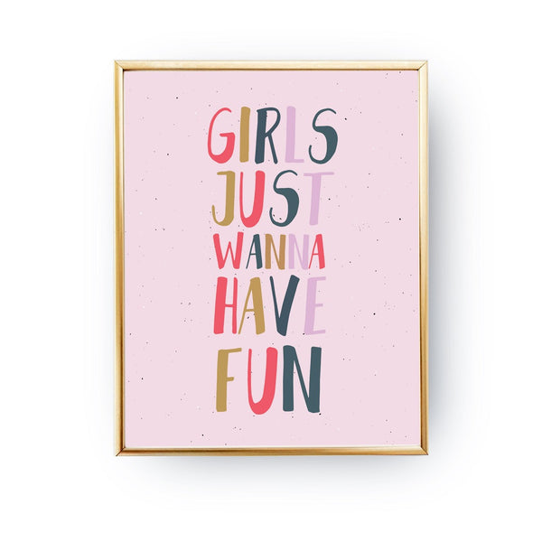 Girls just wanna have fun, Poster
