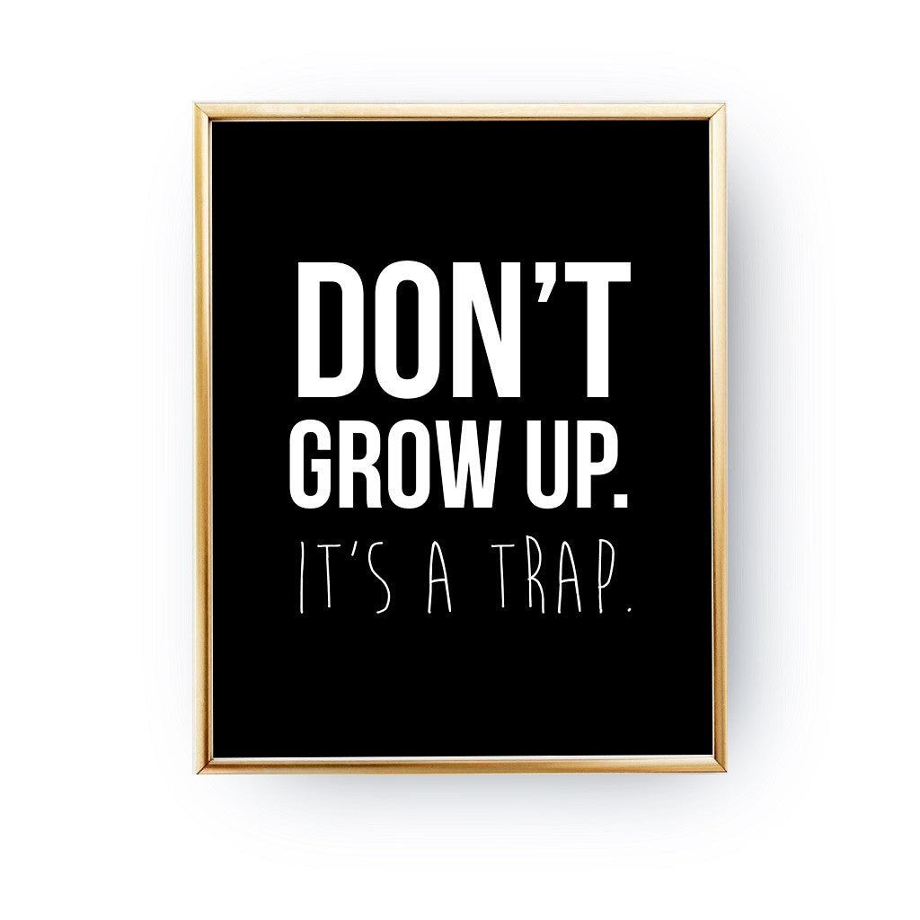 Don't grow up it's a trap, Poster