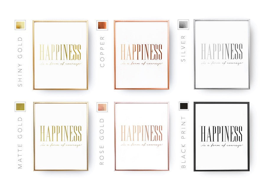 Happiness is a form of courage, Poster