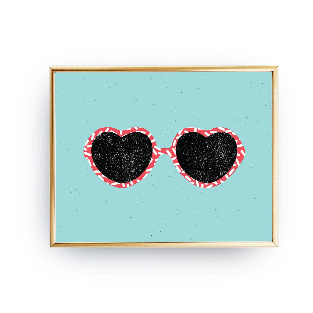 Heart glasses, Poster