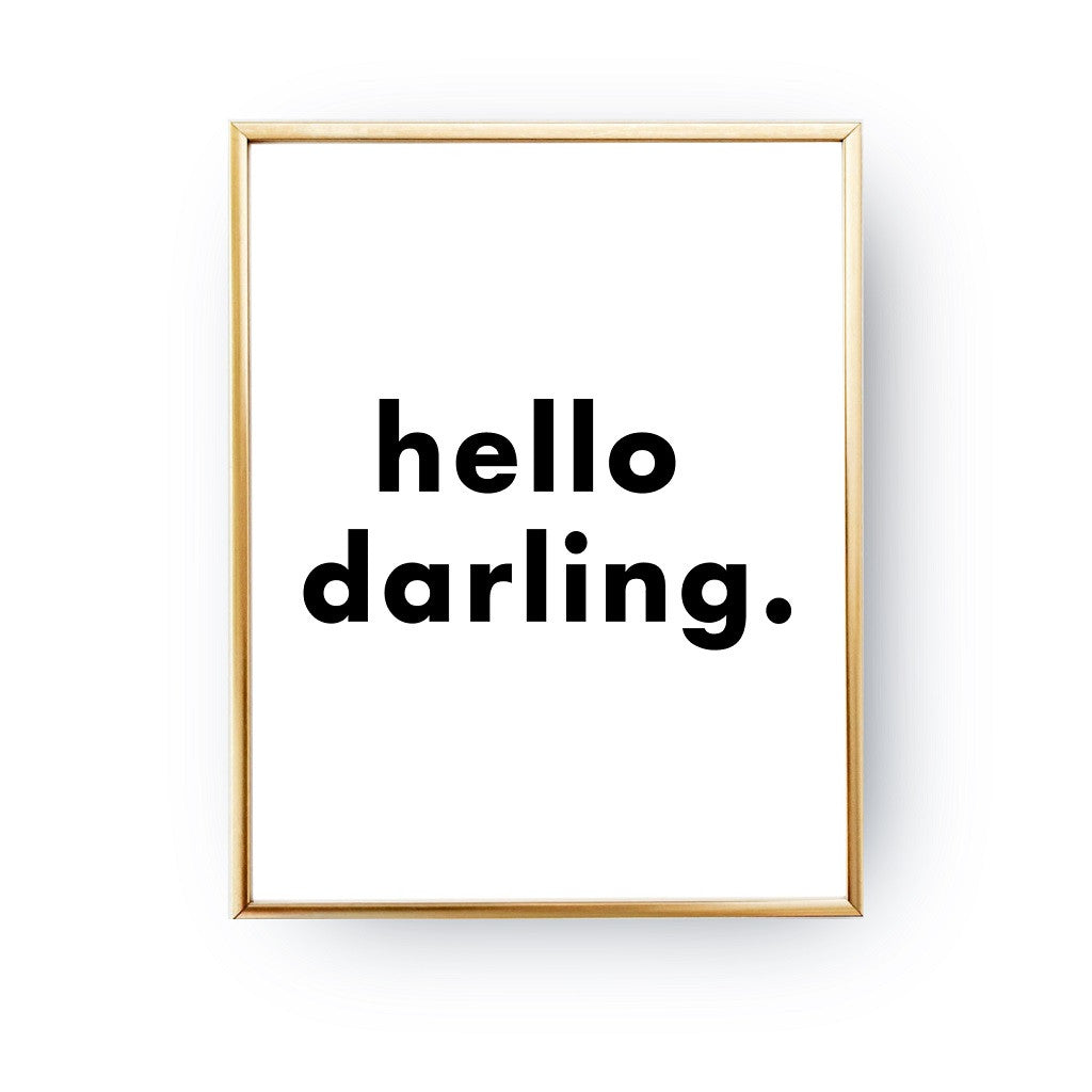 Hello darling, Poster