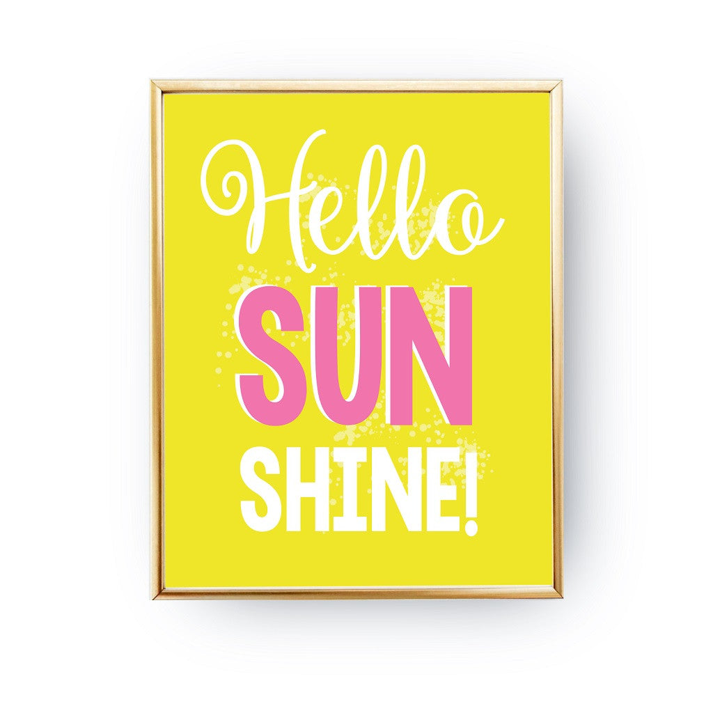 Hello sunshine Yellow, Poster