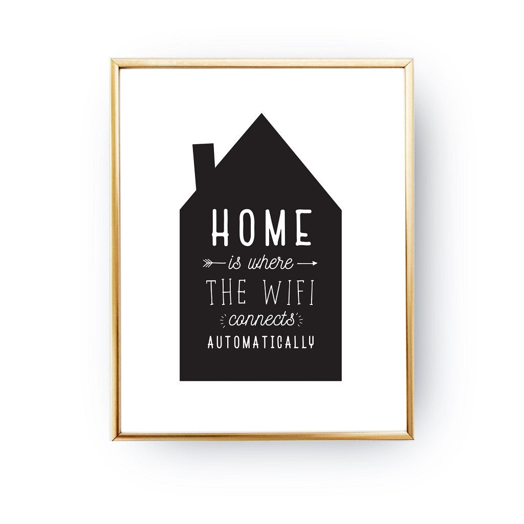 Home is where the wifi connects, Poster