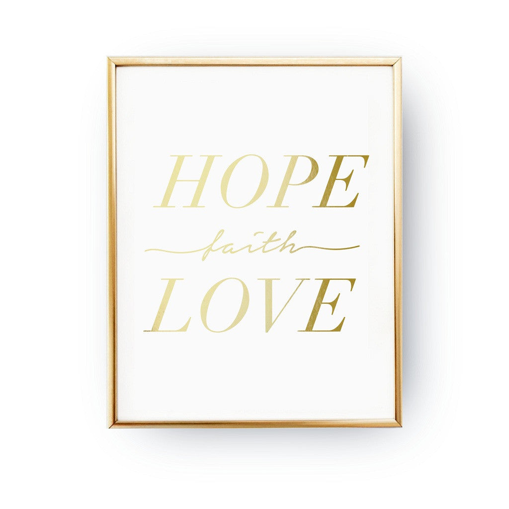 Hope faith love, Poster