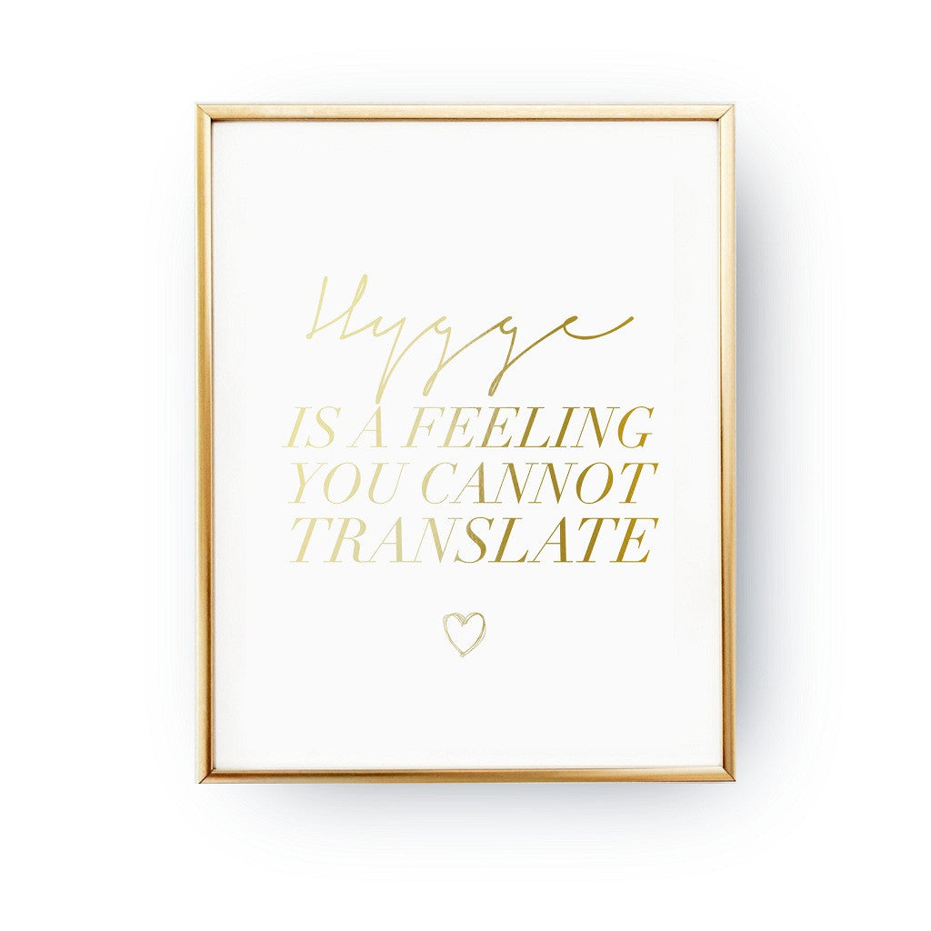 Hygge is a feeling, Poster