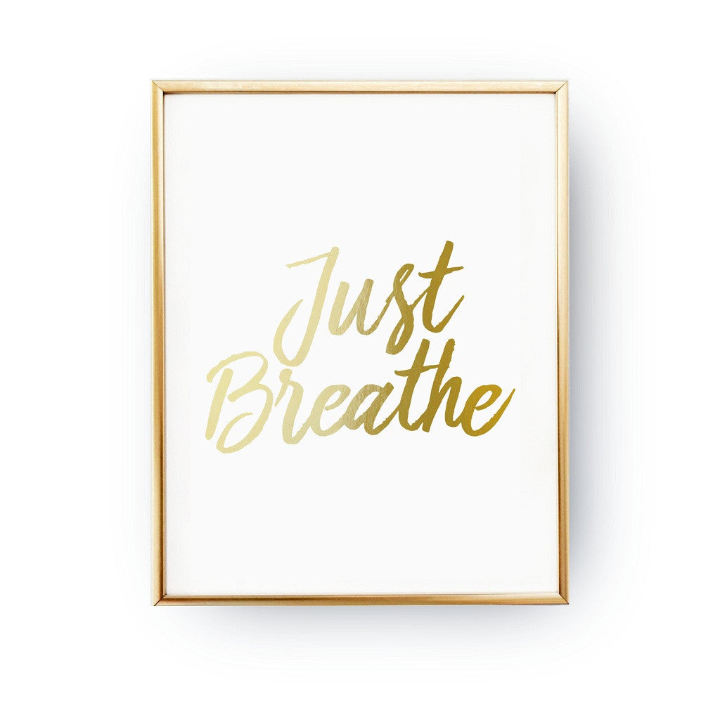 Just breathe, Poster