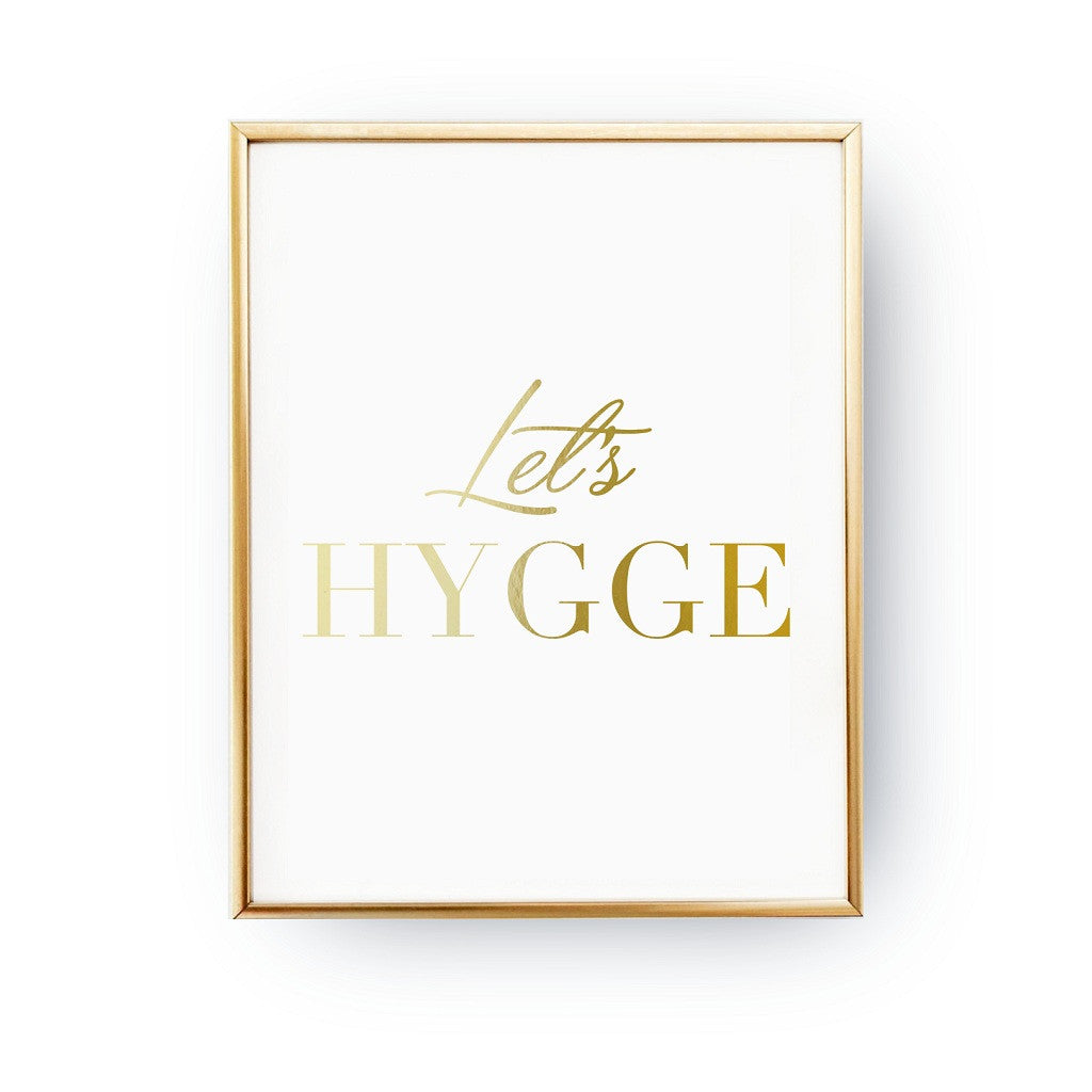 Let's hygge, Poster