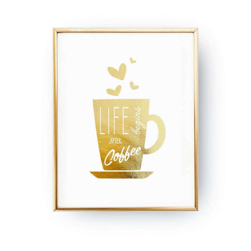 Life begins after coffee, Poster
