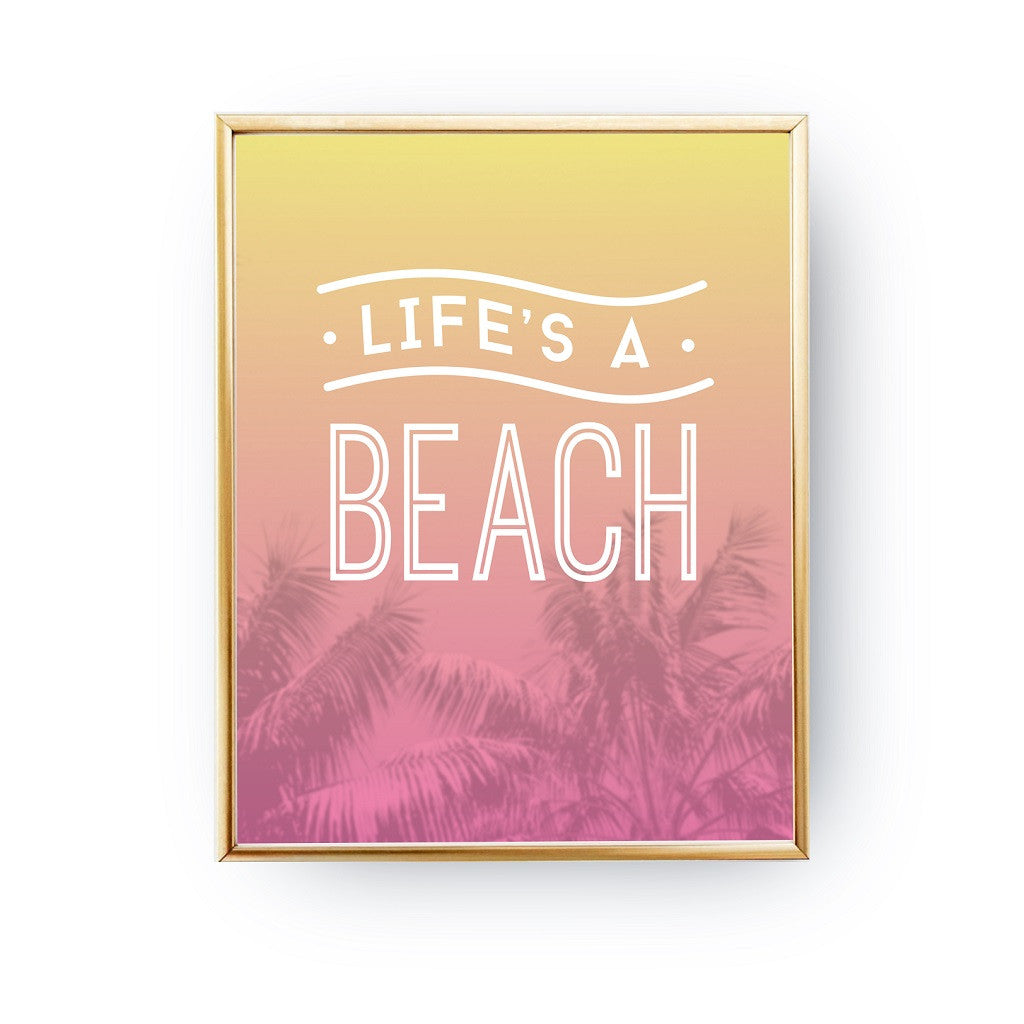 Life's a beach, Poster