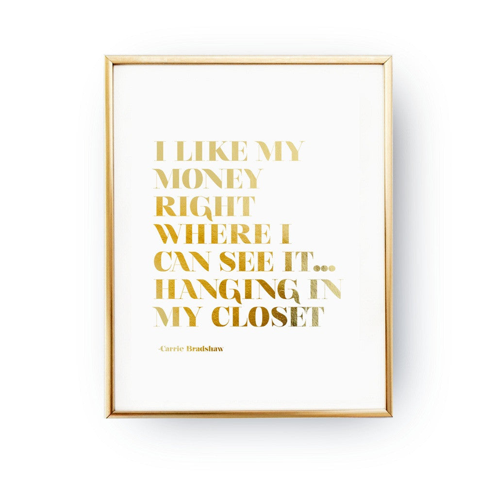 I like my money, Poster