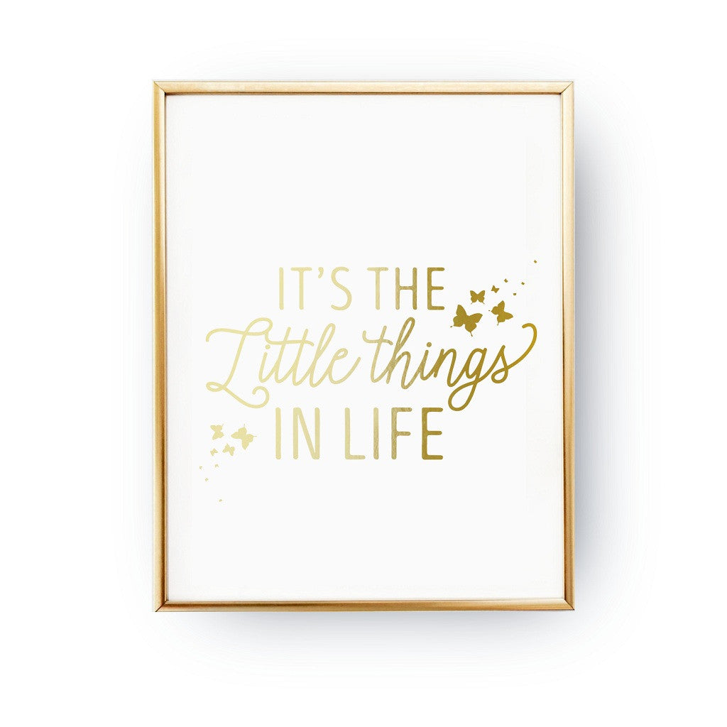 Little things in life, Poster