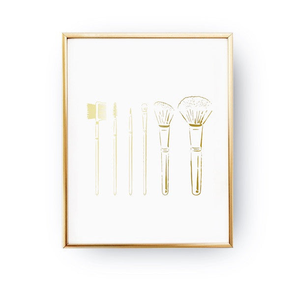 Makeup brushes, Poster