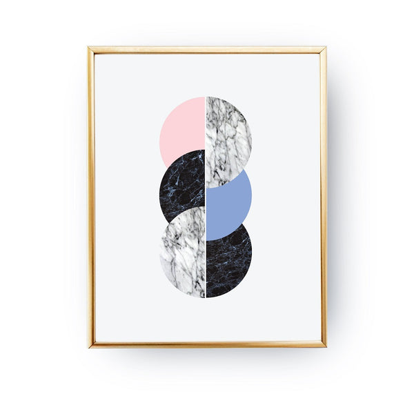 Marble three circles, Poster