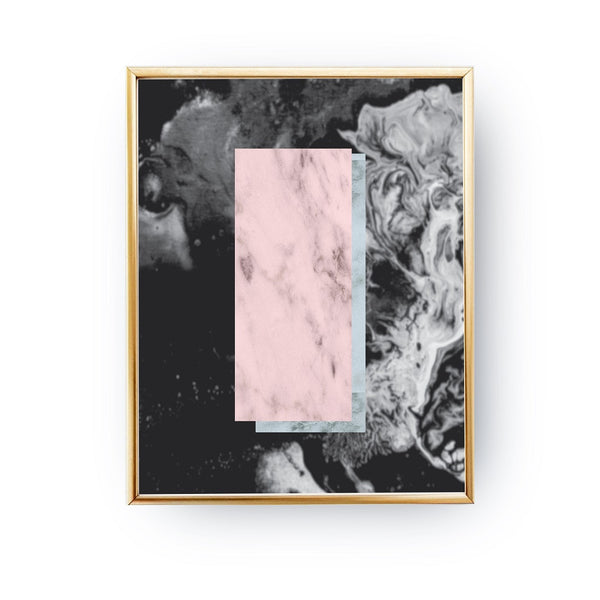 Marble Black Pink, Poster
