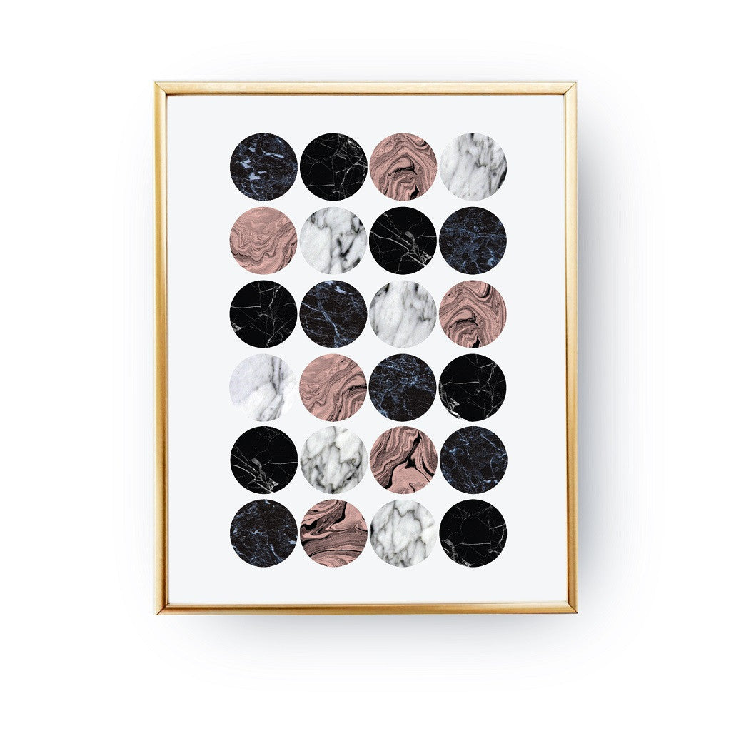 Marble little circles, Poster