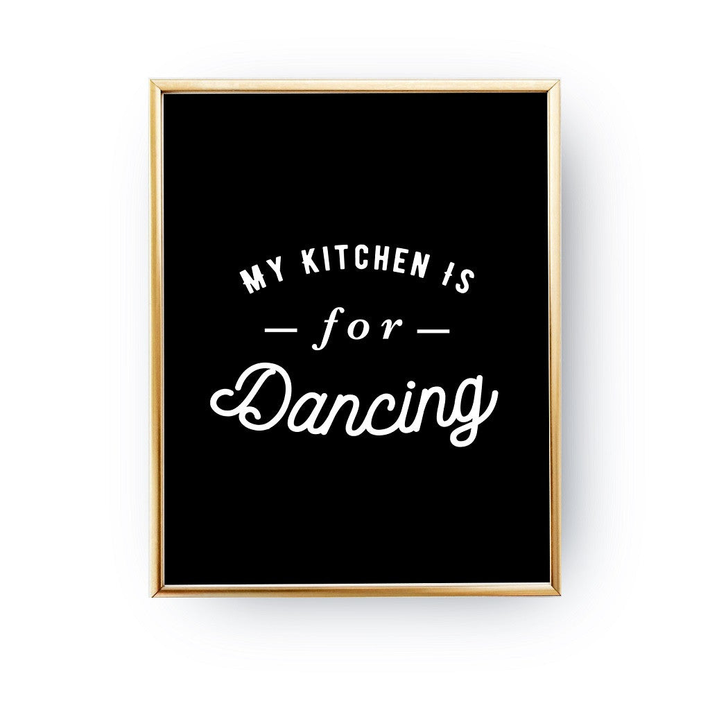 My kitchen is for dancing, Poster