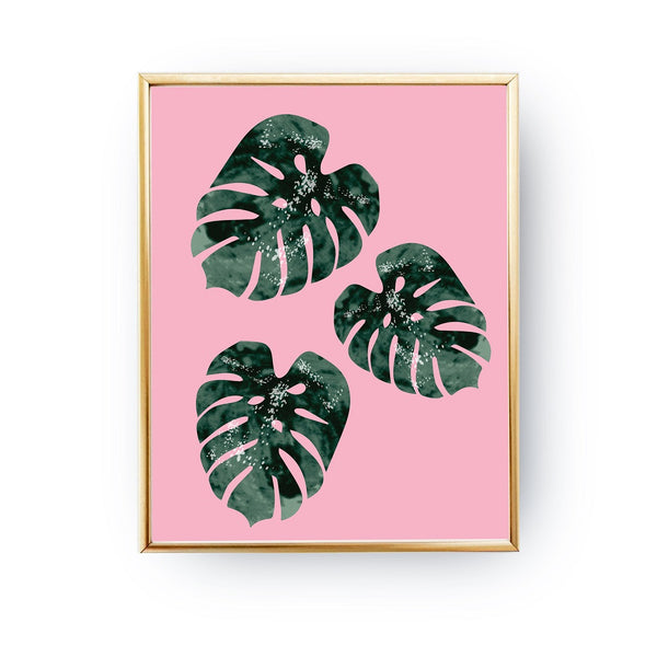 Monstera three leaves, Poster