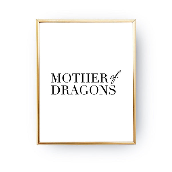 Mother of dragons, Poster