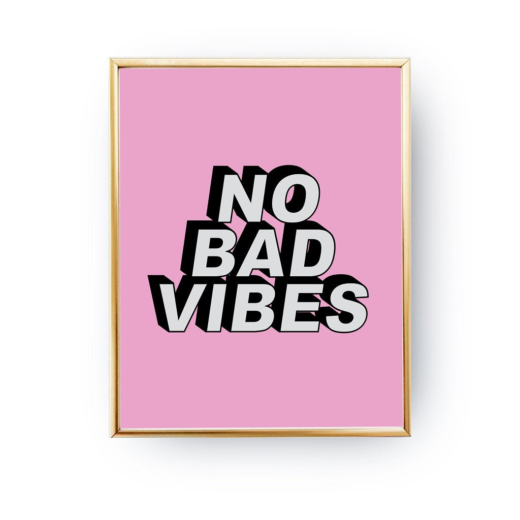 No bad vibes, Poster